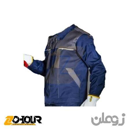 لباس کار کاپشن شلوار مهندسی رنگ سرمه ای طوسی سایز M