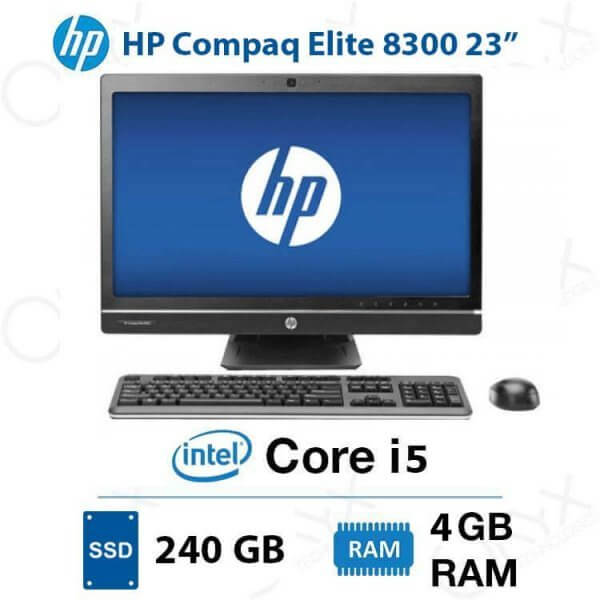 ال این وان HP Compaq Elite 8300 Core i5 4GB 240GB Intel All-in-One PC