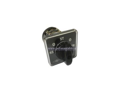کلید سلکتور (گردان) تبدیل ولت چهار حالته 16 آمپر ، TRS