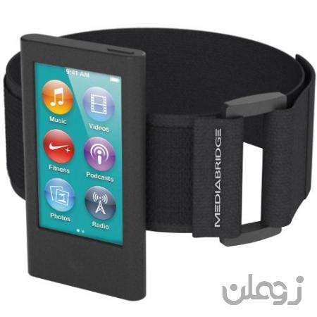 Armband Mediabridge برای iPod Nano - نسل هفتم / نسل هشتم (سیاه) - مدل AB1 (قسمت # AB1-IPN7-BLACK)