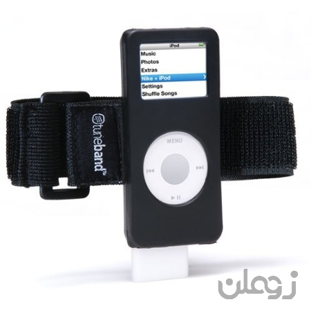 Grantwood Technology TuneBand برای iPod Nano 1/2 نسل ، Premium Armband سازگار با Nike Plus iPod (مدل های A1137 و A1199) ، سیاه