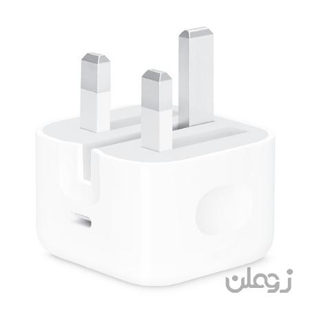 آداپتور شارژ اصلی اپل 18 وات 18W USB-C Power Adapter