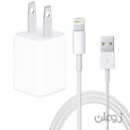 شارژر دیواری اپل به همراه کابل تبدیل Lightning