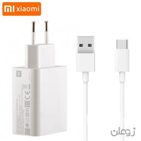 شارژر اصلی فست شارژ همراه با کابل تایپ سی شیائومی Xiaomi MDY-11-EZ Adapter Charger توان ۳۳ وات